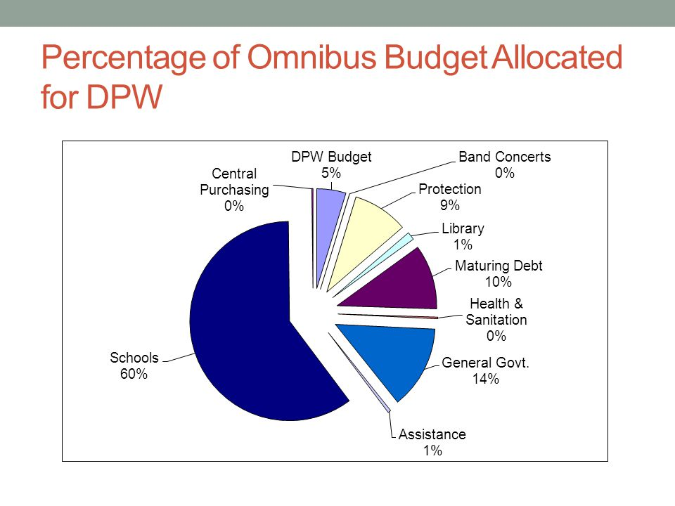 Percentage of Omnibus Budget Allocated for DPW