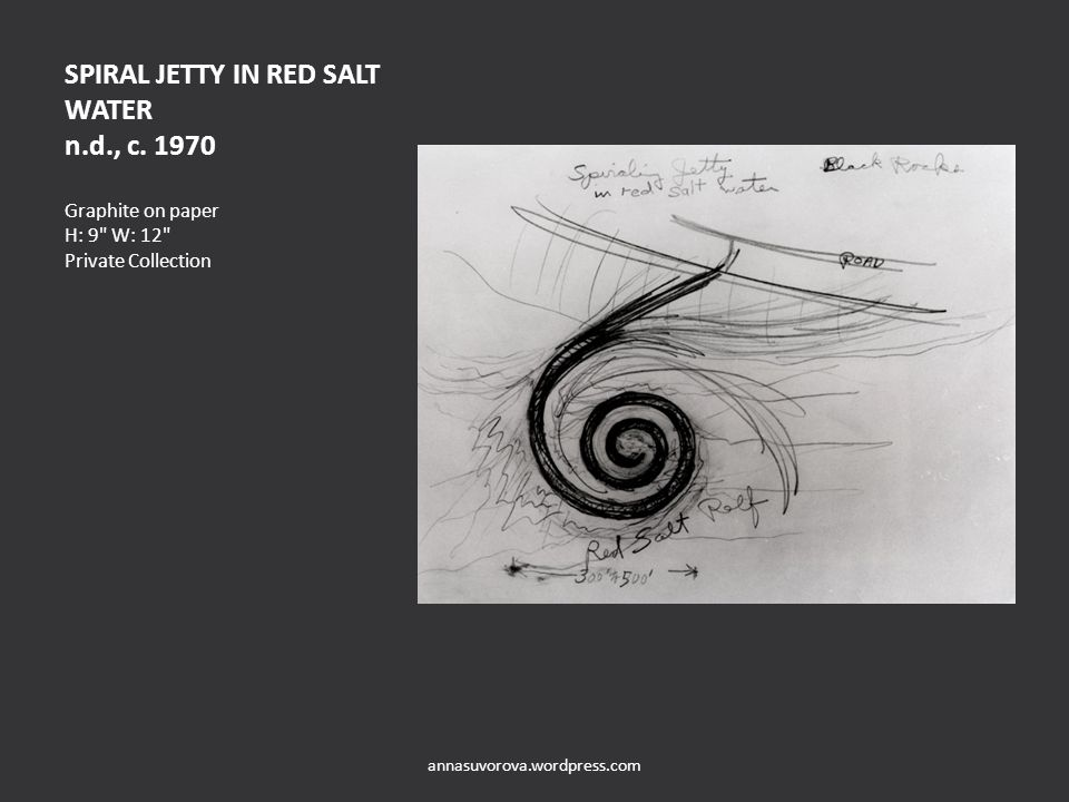 SPIRAL JETTY IN RED SALT WATER n.d., c.