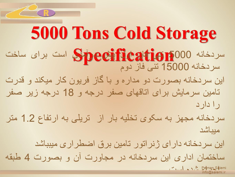 pejman salemi info@salemi.ir 5000 Tons Cold Storage Office