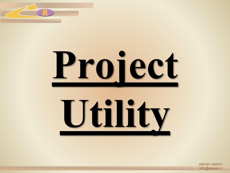 Project Utility 5 MW Electricity Power 2 MW Emergency Generator Human Waste Drain System Rain Collection System Rain Waste System Water System Trucks Weighing System pejman salemi info@salemi.ir