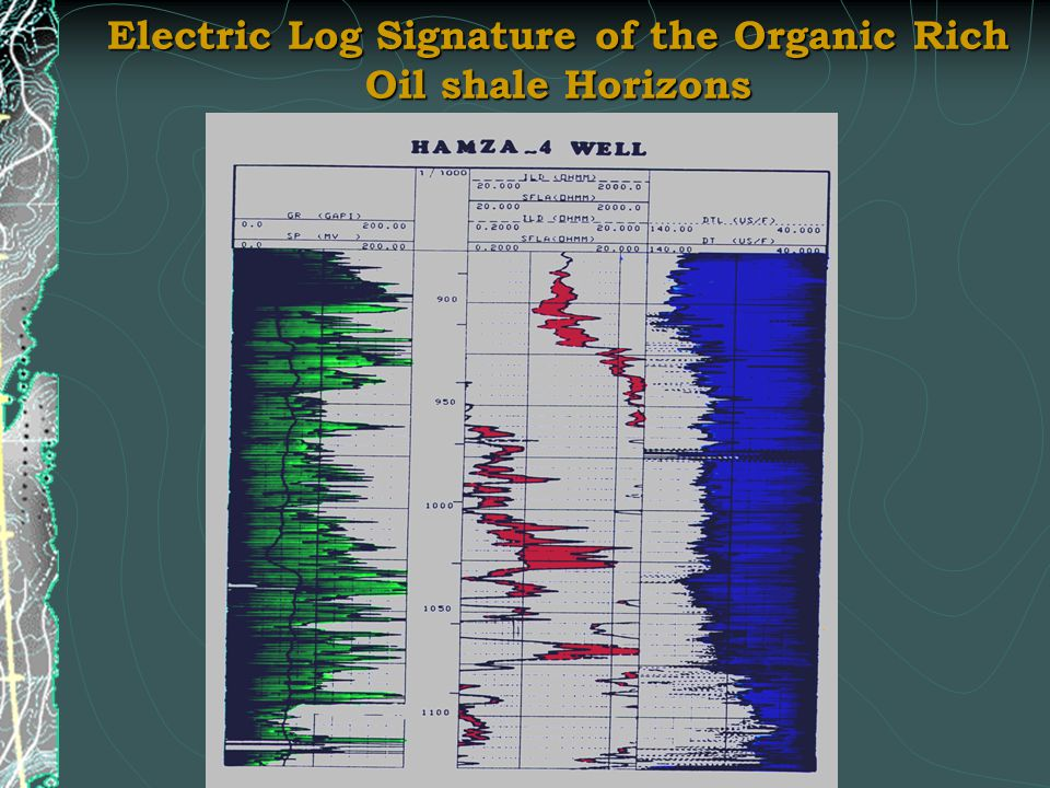 Electric Log Signature of the Organic Rich Oil shale Horizons
