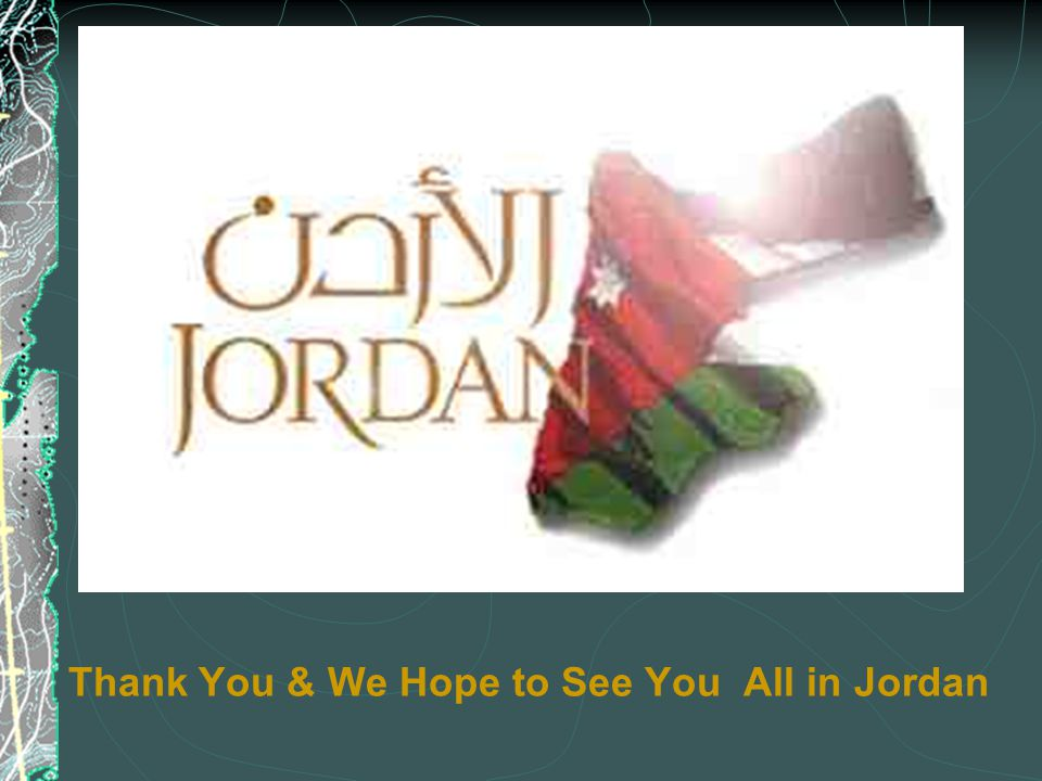 Thank You & We Hope to See You All in Jordan
