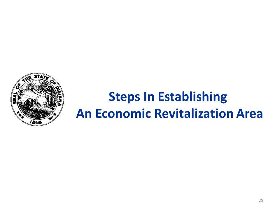 Steps In Establishing An Economic Revitalization Area 29