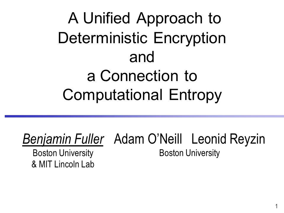 Public Key Encryption (PKE) 2 PK m Need randomness to achieve semantic security $ Enc c