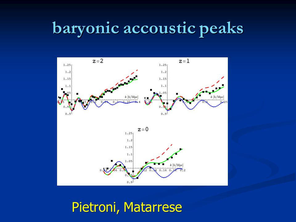baryonic accoustic peaks Pietroni, Matarrese