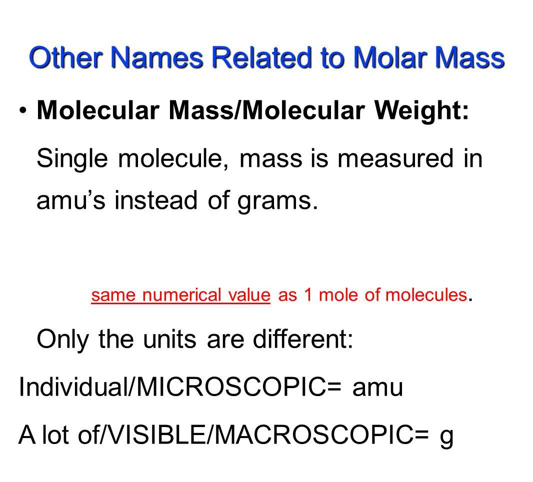 A.Molar Mass of K 2 O = B. Molar Mass of antacid Al(OH) 3 = K 2 O = 94.20 g/molAl(OH) 3 = 78.03 g/mol Learning Check!