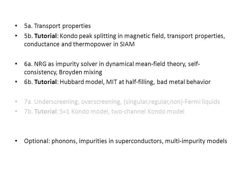 5a. Transport properties 5b.