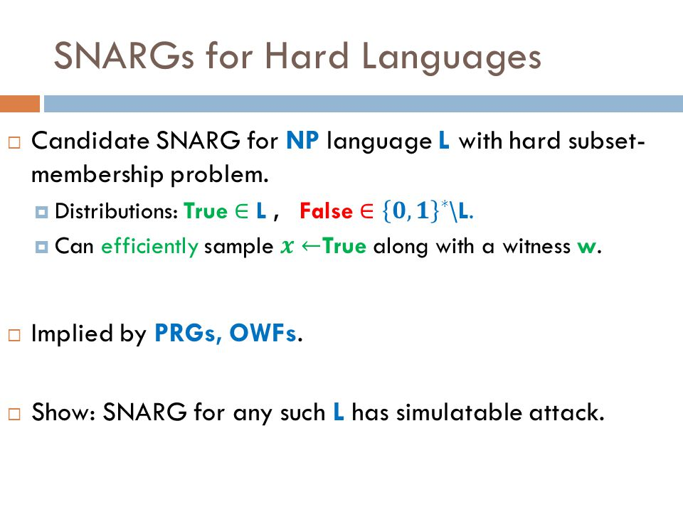 SNARGs for Hard Languages