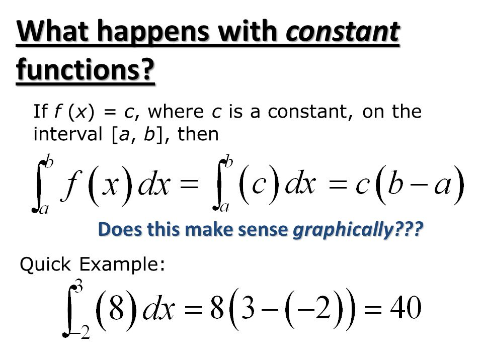 What happens with constant functions.