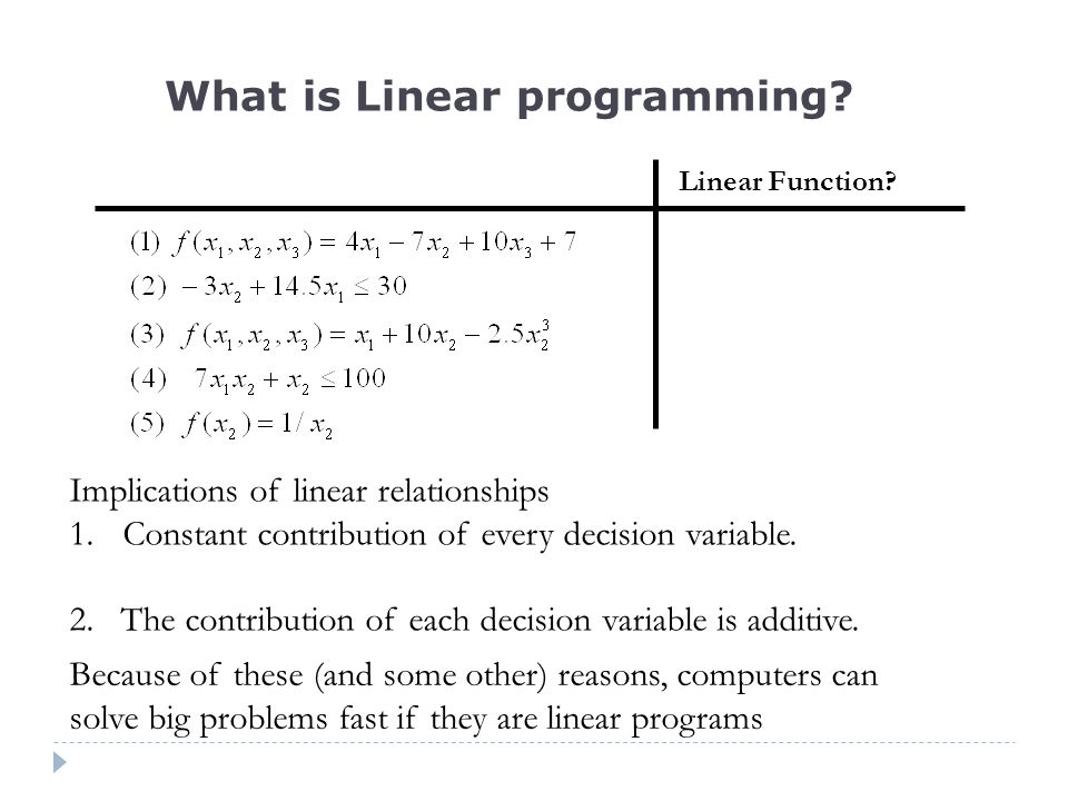 Linear Function.