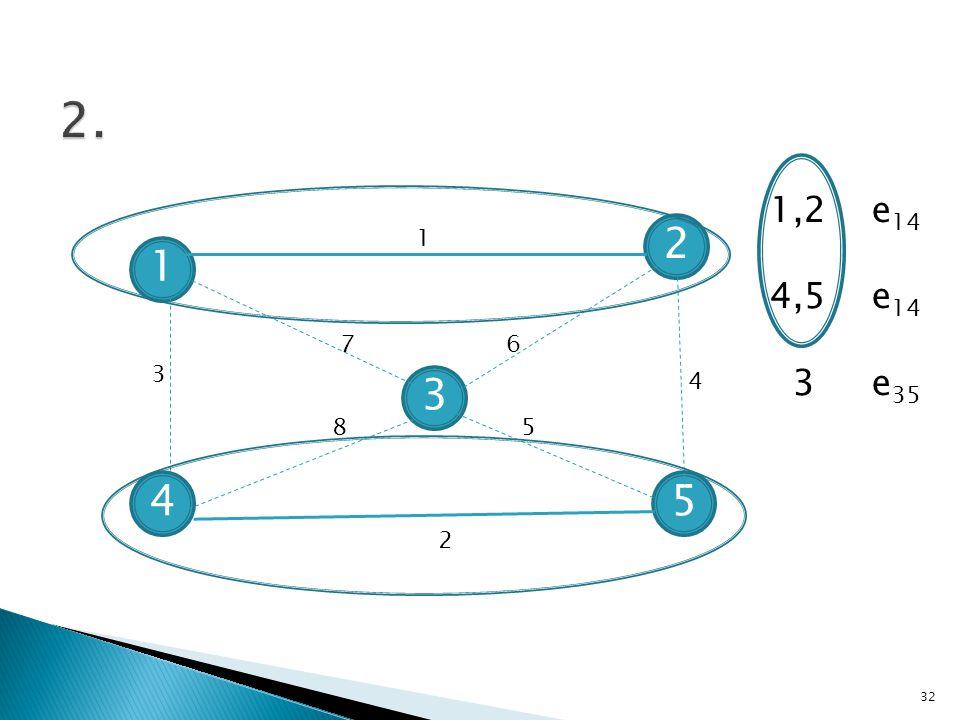 4 1 2 3 5 1 76 85 3 2 4 1,2 e 14 4,5 e 14 3 e 35 32