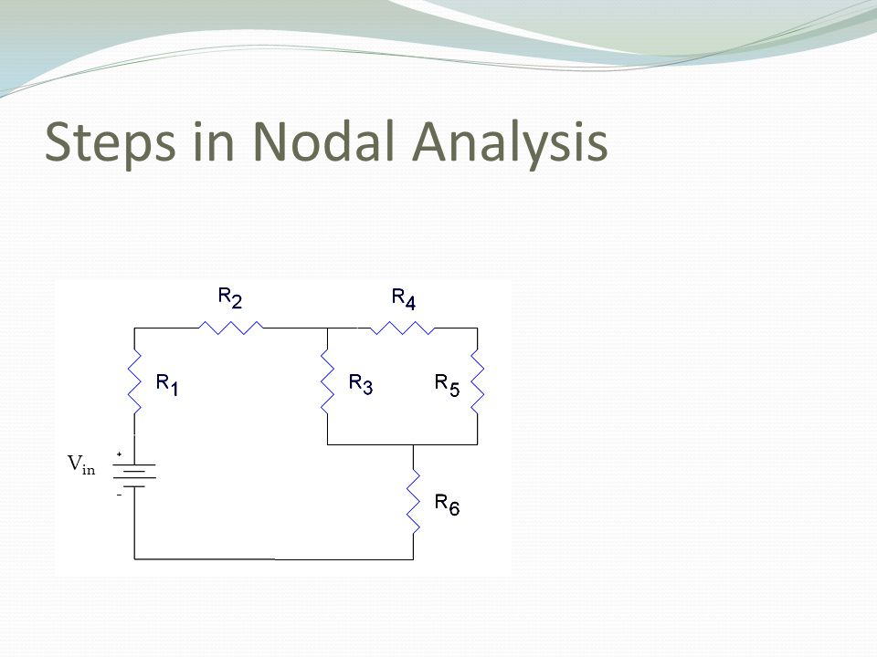 Steps in Nodal Analysis V in