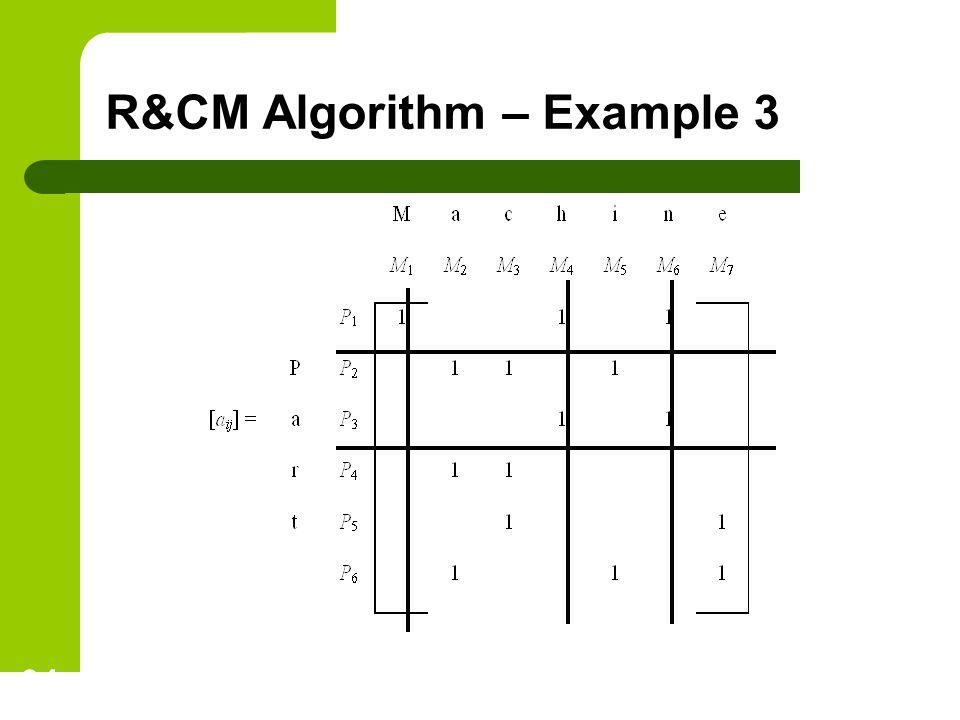 R&CM Algorithm – Example 3 34