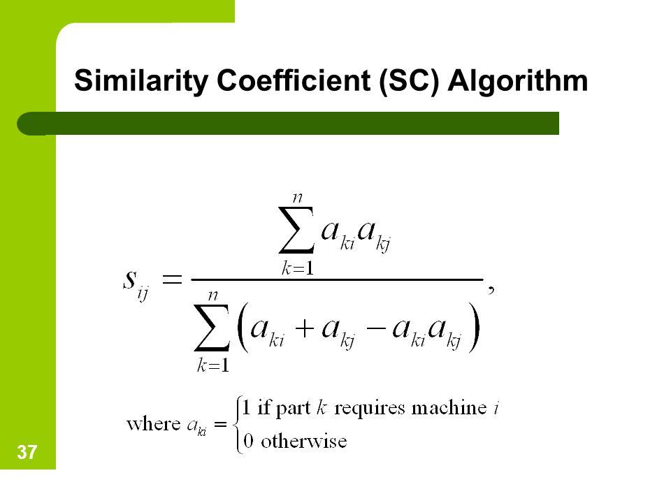 Similarity Coefficient (SC) Algorithm 37