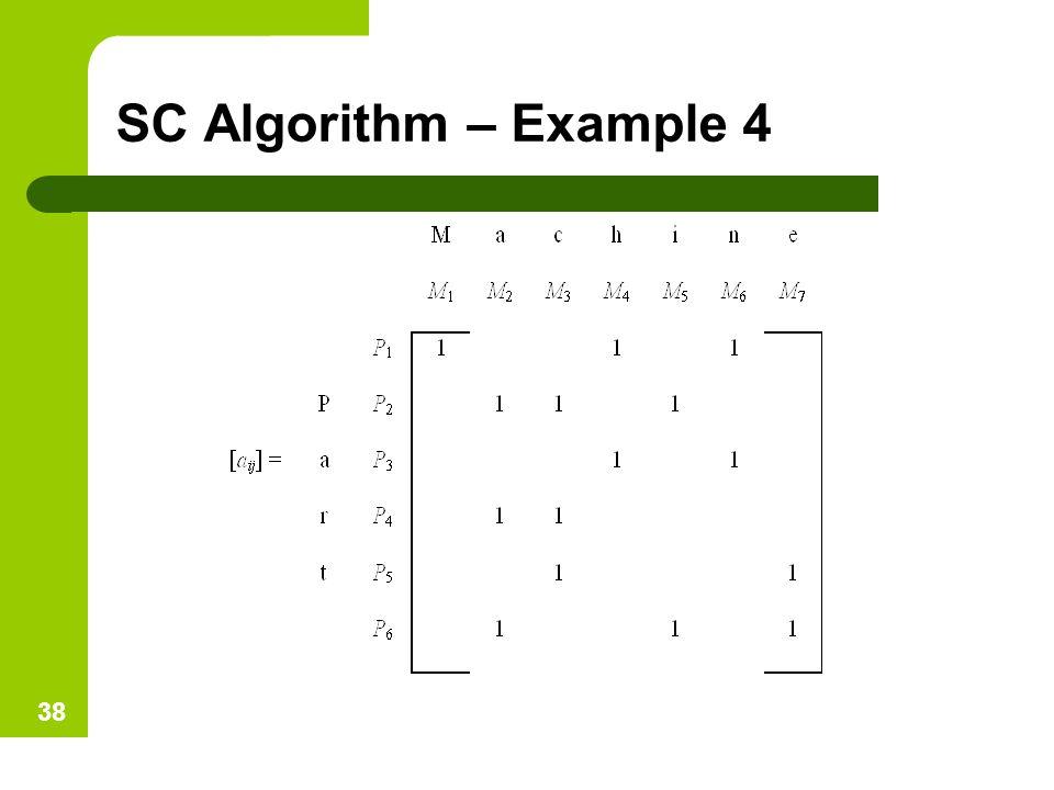SC Algorithm – Example 4 38