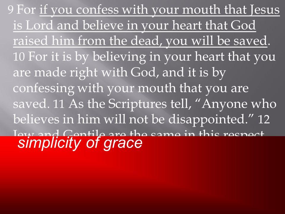 simplicity of grace