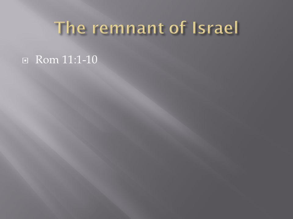  Rom 11:1-10