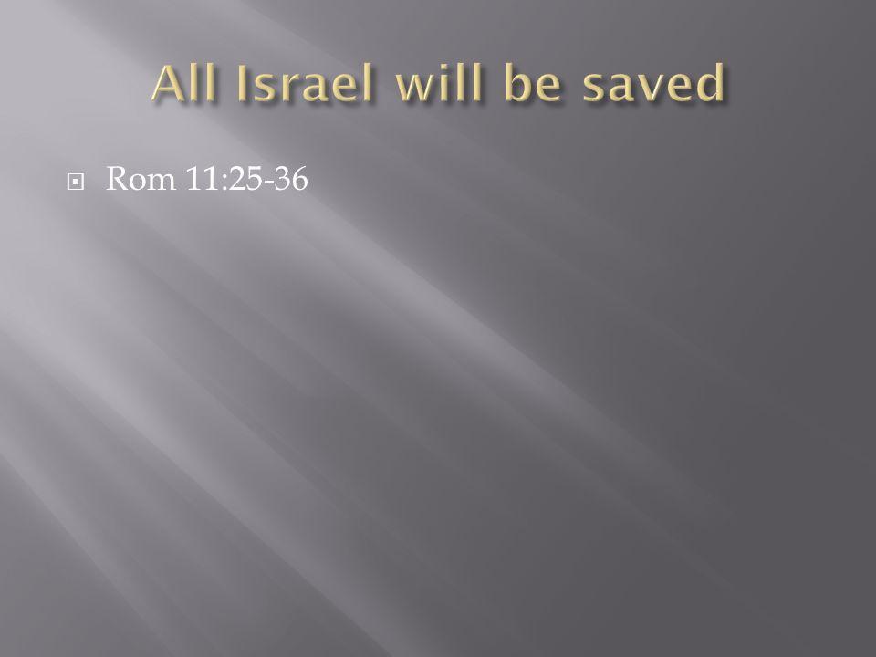  Rom 11:25-36