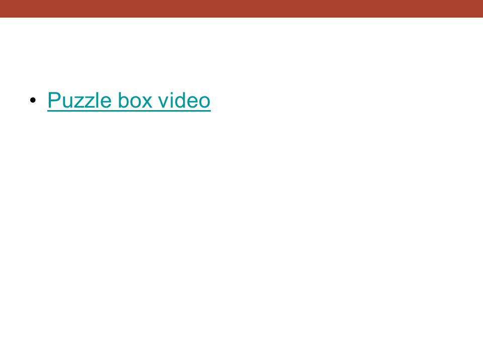 Puzzle box video