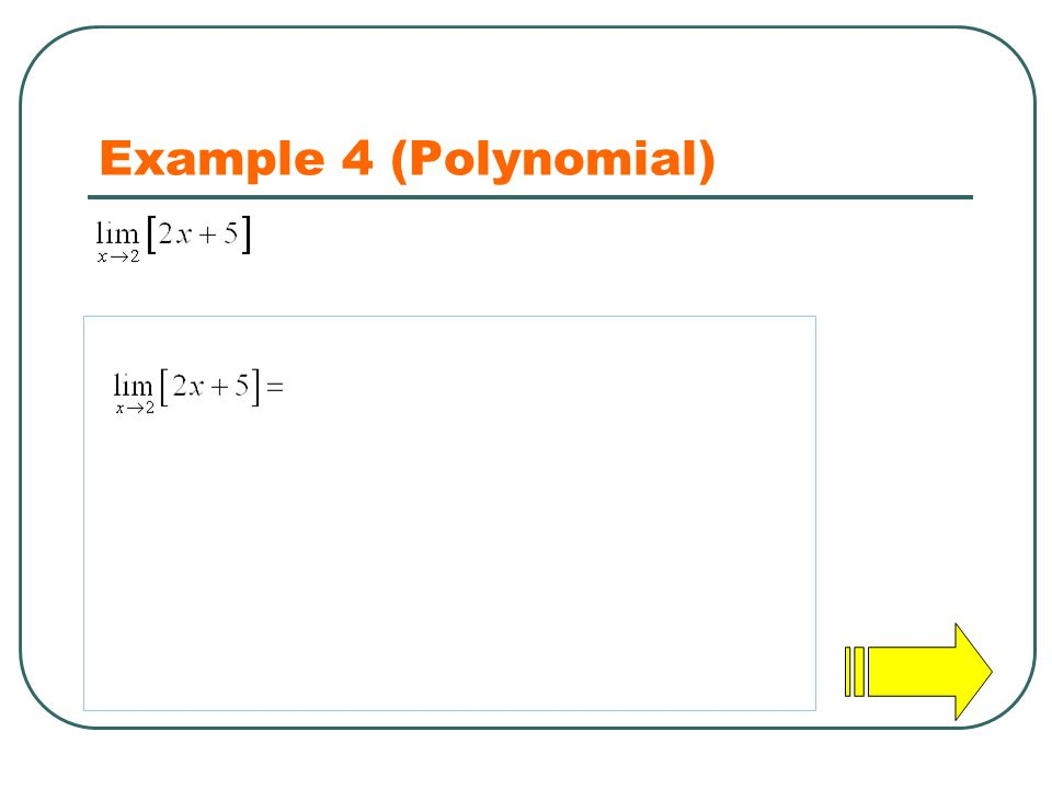 Example 4 (Polynomial)