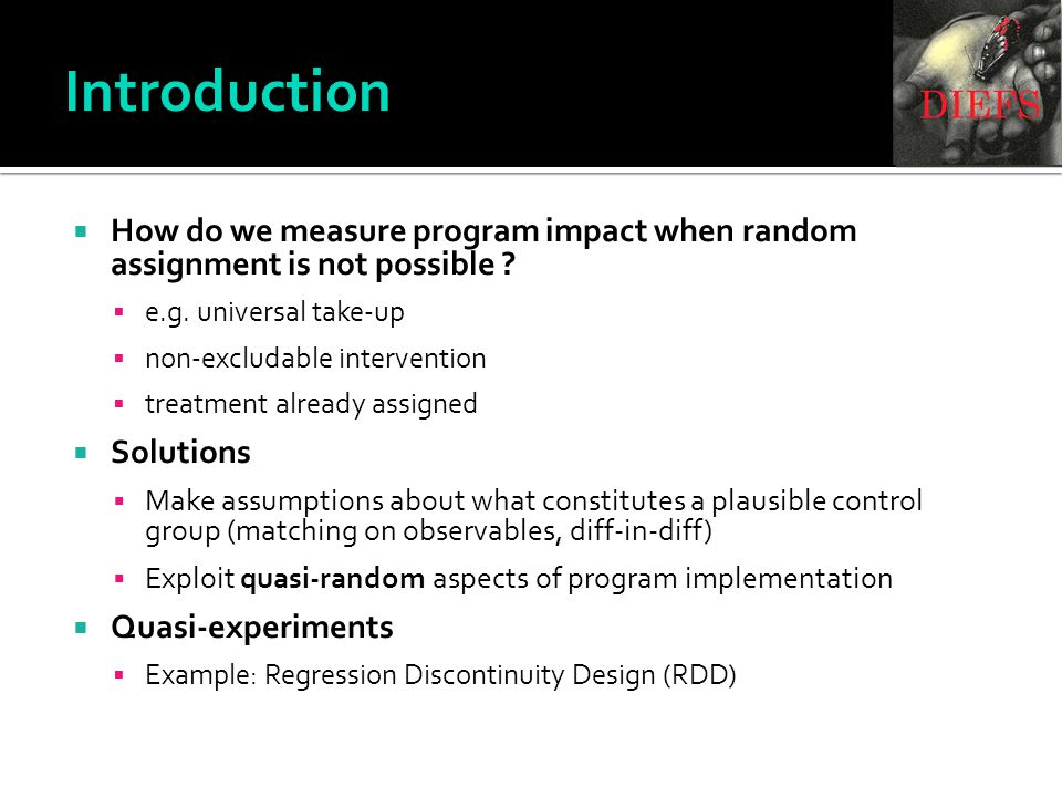  How do we measure program impact when random assignment is not possible .