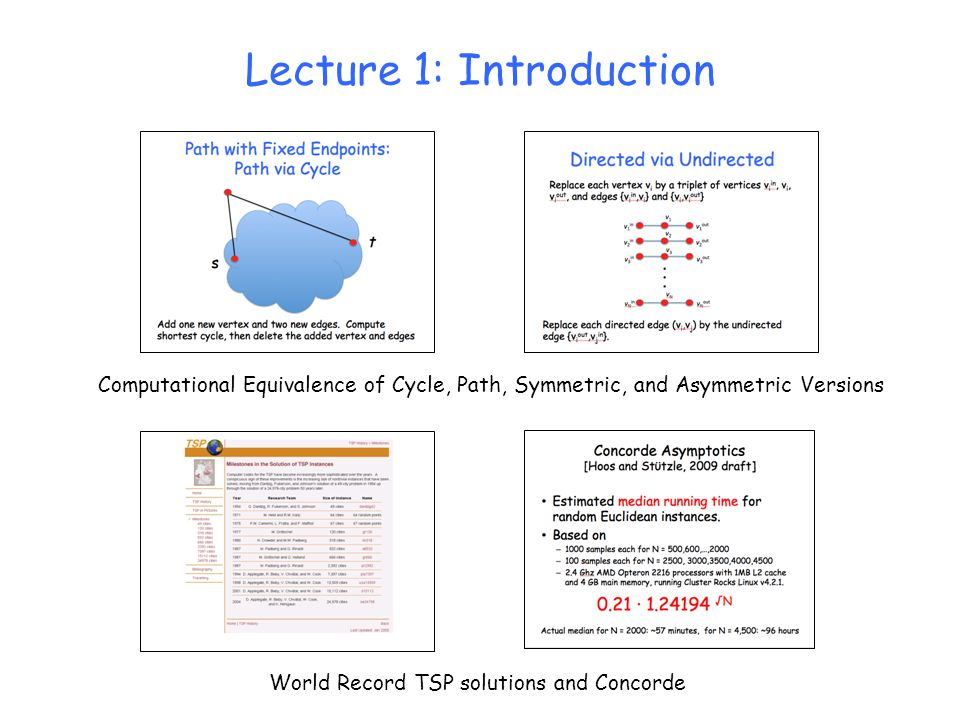 Computational Equivalence of Cycle, Path, Symmetric, and Asymmetric Versions World Record TSP solutions and Concorde