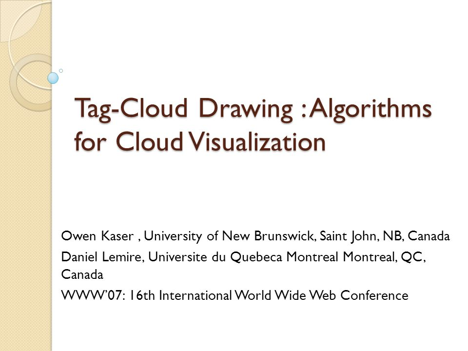 Tag Clouds with In-line Text (Cont.) The NFDH heuristic gives about the same average tag-cloud height as does the weight-sorted greedy algorithm.