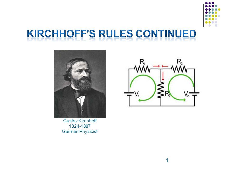 1 Gustav Kirchhoff 1824-1887 German Physicist