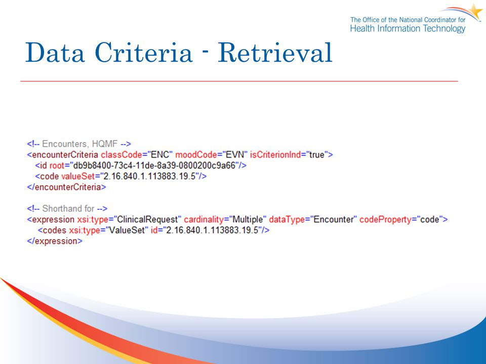 Data Criteria - Retrieval