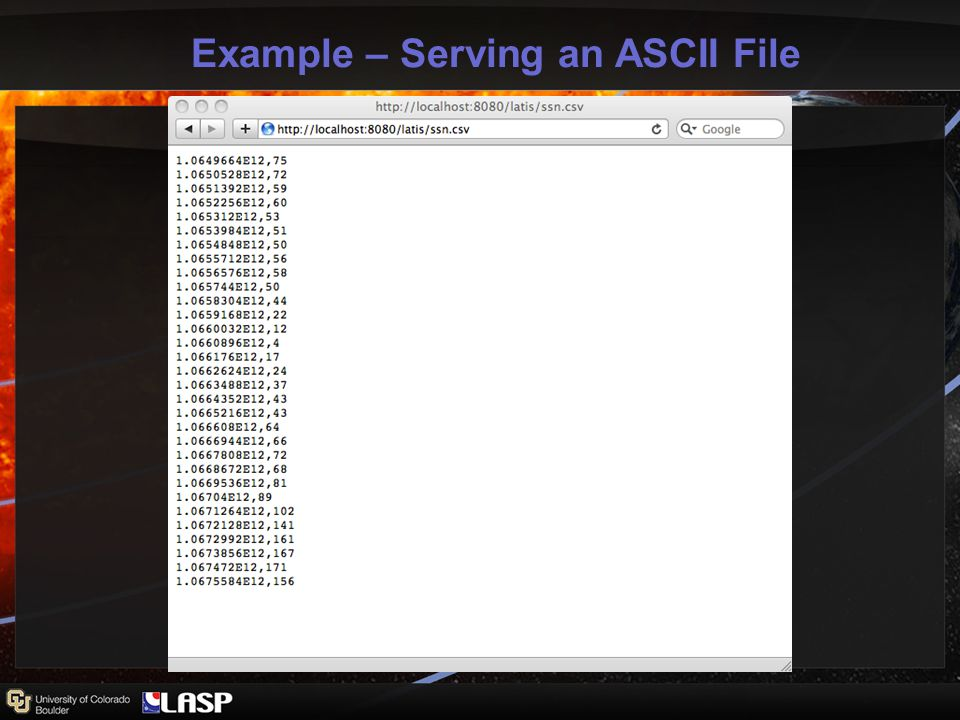 Example – Serving an ASCII File