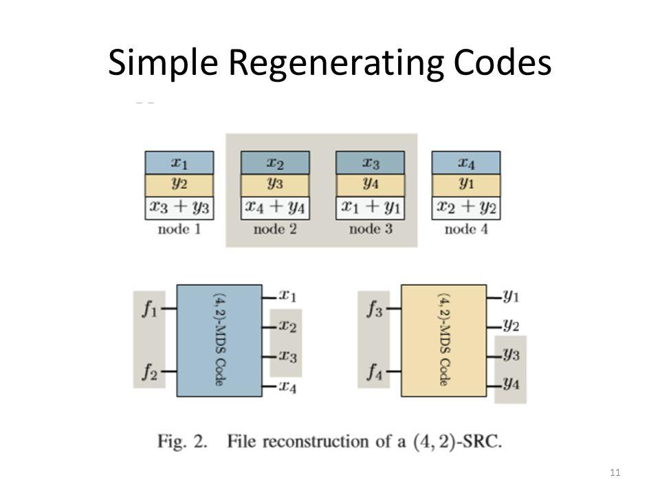 Simple Regenerating Codes 11