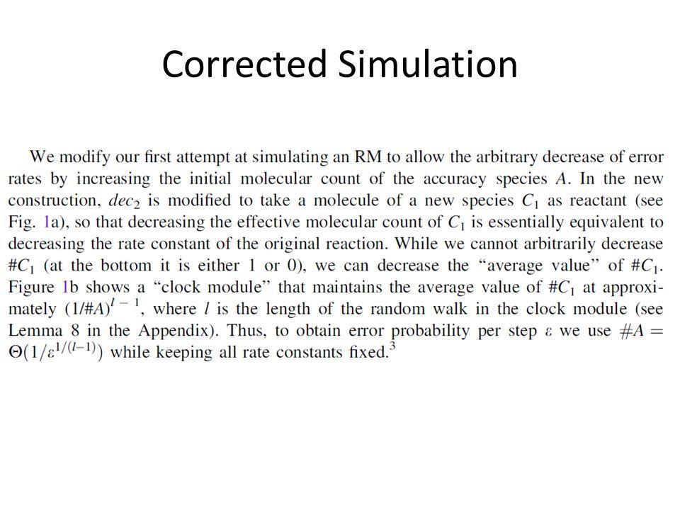 Corrected Simulation