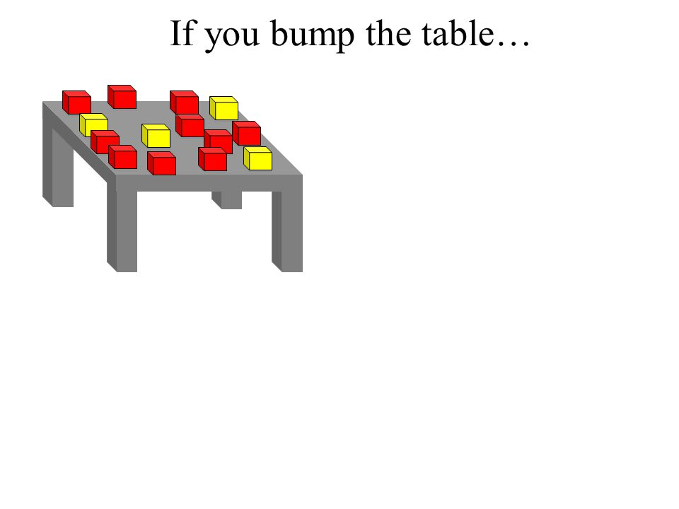 If you bump the table…