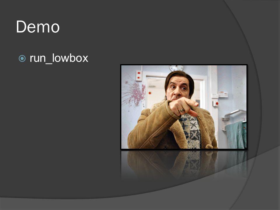 Demo  run_lowbox