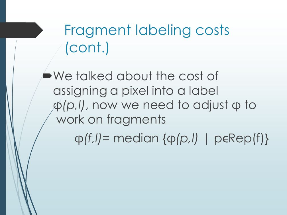 Fragment labeling costs (cont.)