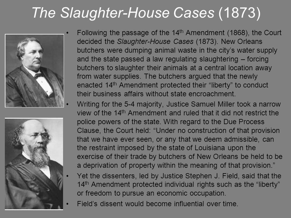 Lochner v.New York (1905) Justice Oliver Wendell Holmes, Jr.