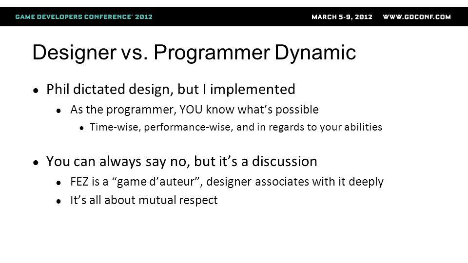 Designer vs.