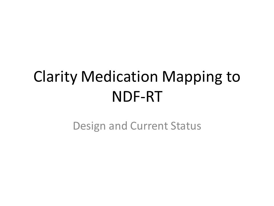 Outline Brief Tour of RxNorm Tables Used Design Current Status (Results) Next Steps Code Walkthrough Discussion