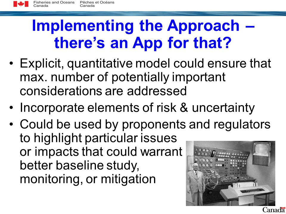 Implementing the Approach – there's an App for that.