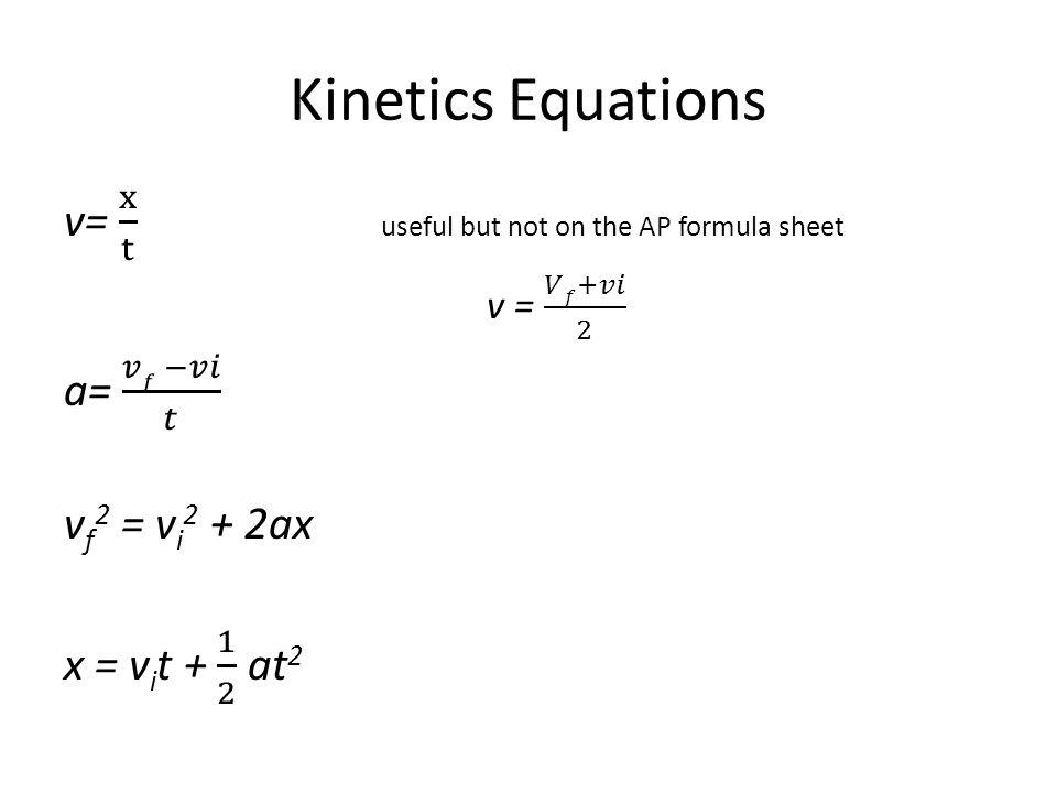 Kinetics Equations