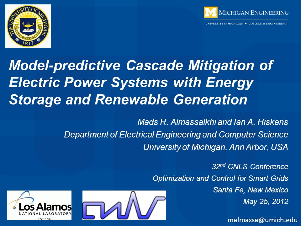 Model-predictive Cascade Mitigation of Electric Power Systems with Energy Storage and Renewable Generation Mads R.