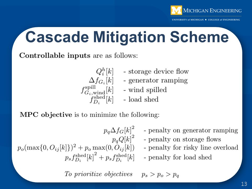 13 Cascade Mitigation Scheme