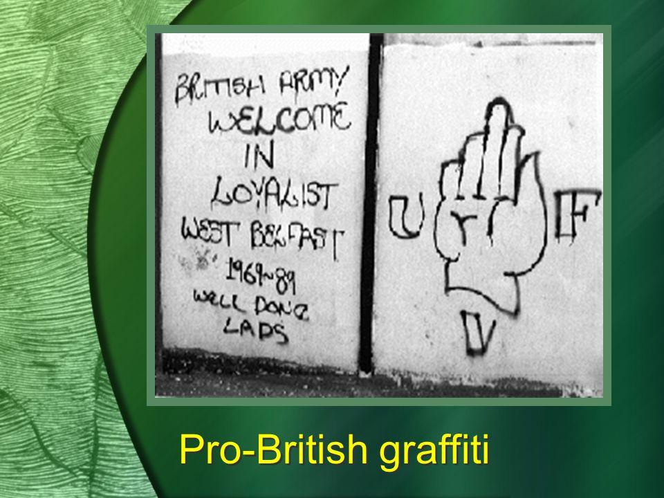 Pro-British graffiti
