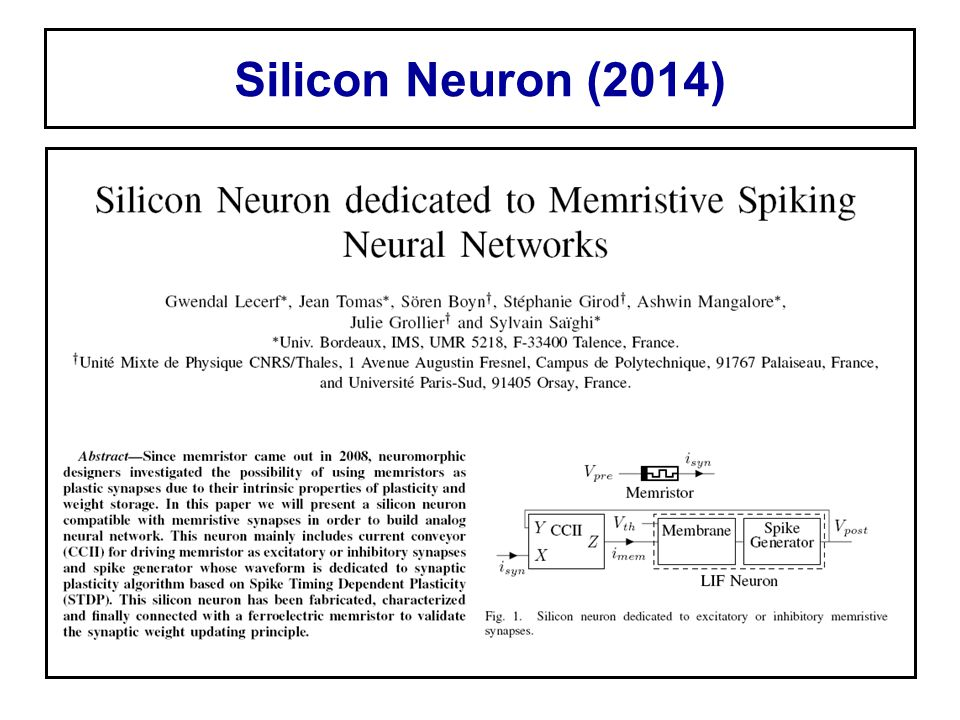 Silicon Neuron (2014)