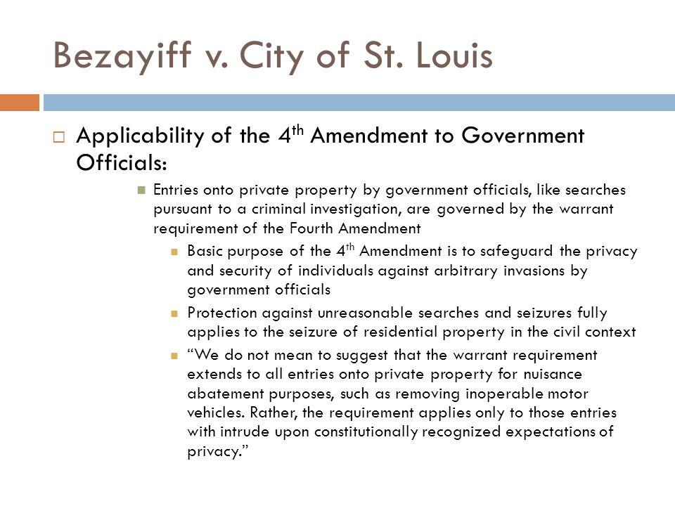 Bezayiff v. City of St.