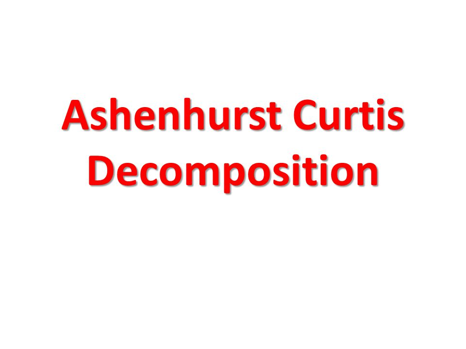 Ashenhurst Curtis Decomposition
