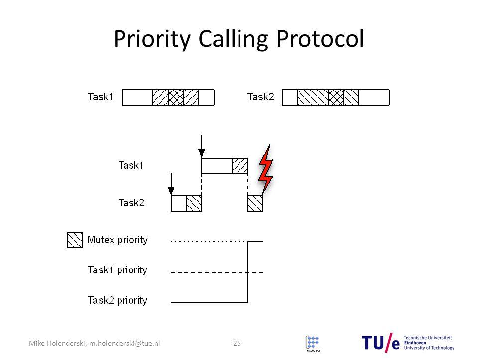 Mike Holenderski, m.holenderski@tue.nl Priority Calling Protocol 25
