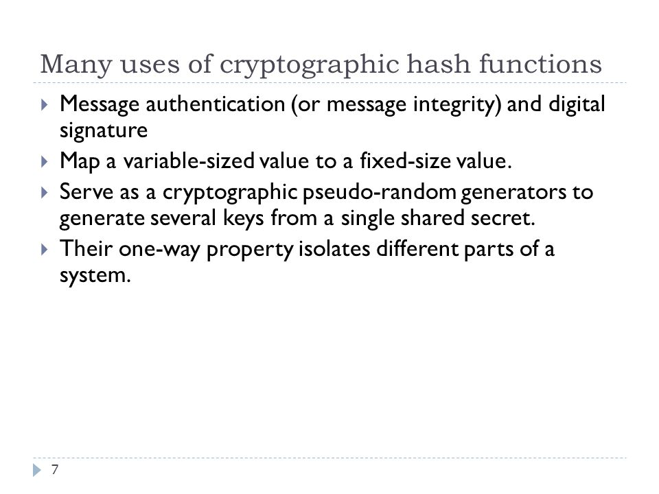 For example, 38  The authenticated message may include  A message ID that prevents replay attack,  The source and destination of the message,  Protocol field, etc.
