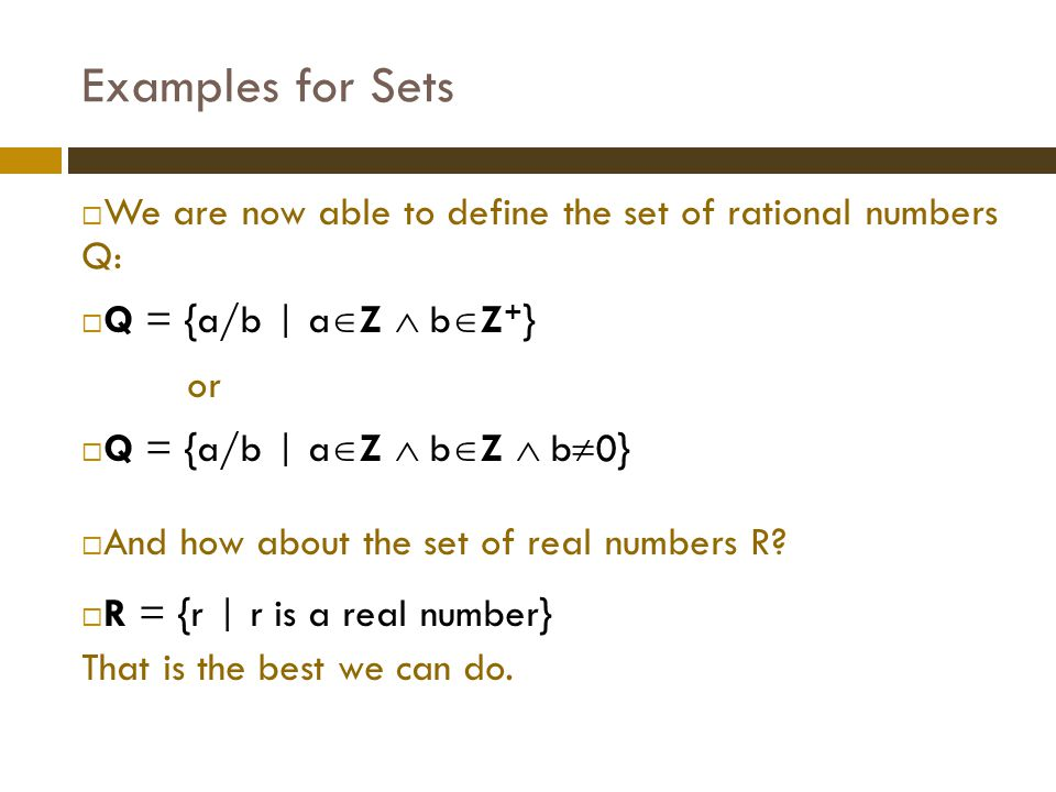 Exercise 4  Find the power sets  ({1,2}) and  ({1,2,3})