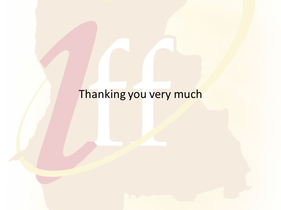 Thanking you very much